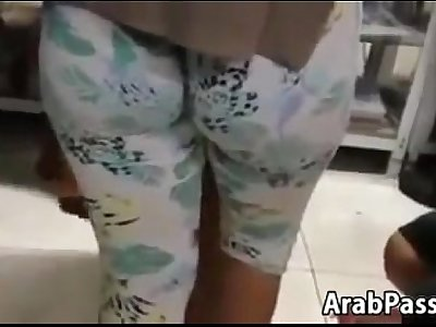Arab With A Booty Wearing Tight Leggings